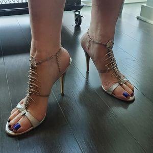 Authentic 2009 Giuseppe Zanotti fishbone heels